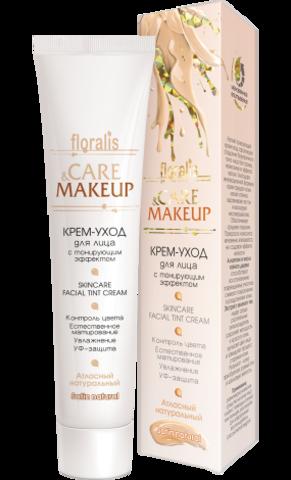 Floralis Care&Makeup Крем-уход для лица с тонирующим эффектом Атласный натуральный 40г