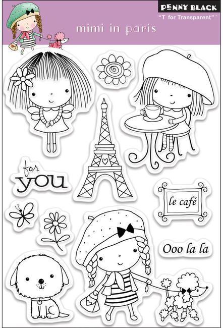 Набор штампов mimi in paris