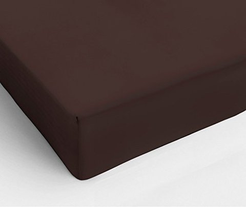 Простыня на резинке 200x200 Сaleffi Tinta Unito с бордюром коричневая