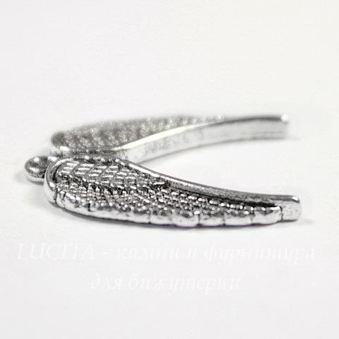 """Подвеска """"Крылья"""" 22х20 мм (цвет - античное серебро)"""