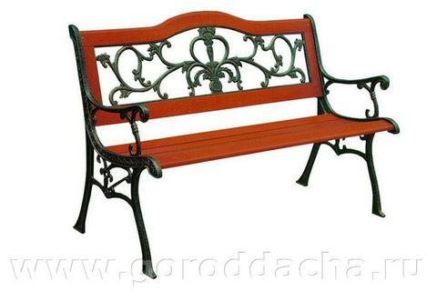Скамейка чугунная садовая 350