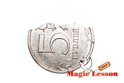 Откусывание монеты (Bite Coin) - доллар, рубль