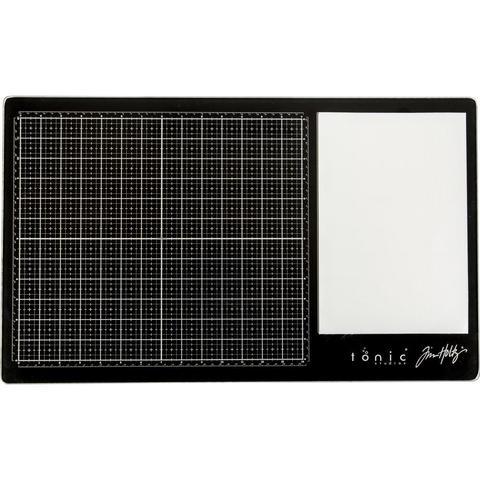 Стеклянный коврик Glass Media Mat от Tonic studios - 36,5х60,5 см