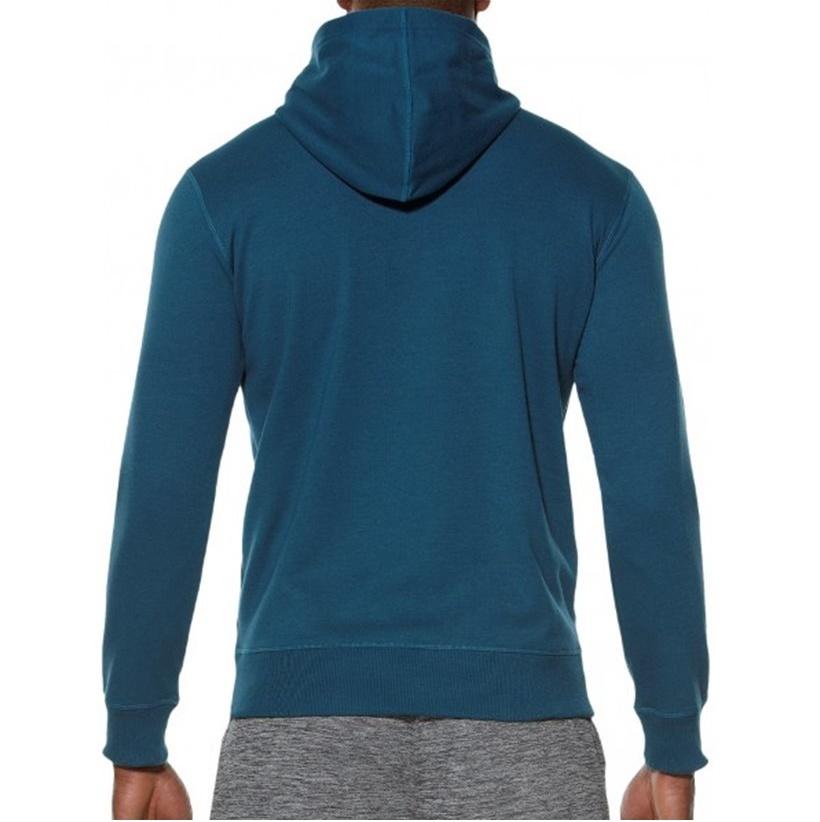 Мужская толстовка с принтом Asics Camou Logo Hoodie (131528 0053) синяя фото