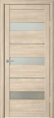 Дверь Фрегат ALBERO Прага, стекло матовое, цвет лиственница мокко, остекленная