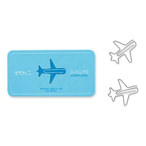 Скрепки Midori D-Clips Airplane (30 шт.)
