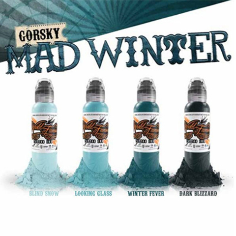 Краска World Famous Tattoo Ink Damian Gorski Mad Winter Set 4шт