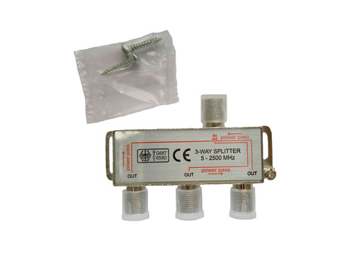 Сплиттер TV (делитель) Ripo на 3 направления под F разъёмы 5-2500 МГц купить в интернет-магазине