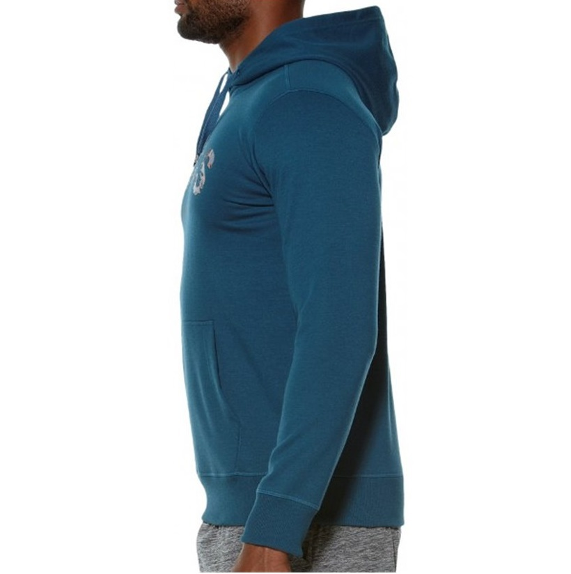 Мужская толстовка с логотипом Asics Camou Logo Hoodie (131528 0053) синяя фото