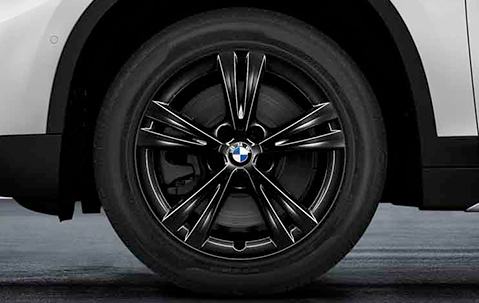 диск колесный R17 Double Spoke 385 (черный) 36106866673 для BMW Х1 (F48) 2015- автокресло chicco quasar plus astral