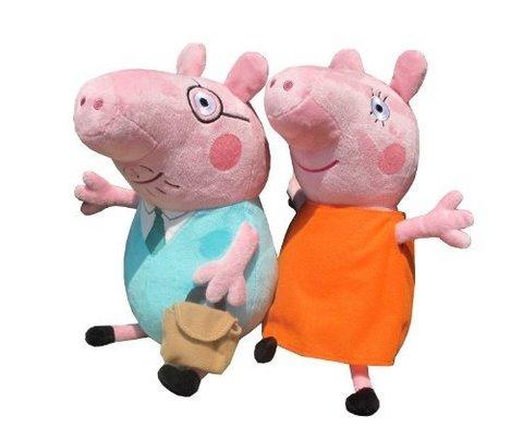 Peppa Pig — Daddy Pig and Mummy Pig Plush