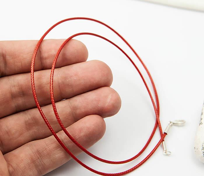PL277-6 Шнурок для подвески красного цвета фото 04