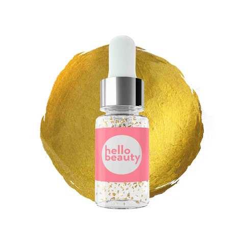 HELLO BEAUTY | Золотая сыворотка перед макияжем: красные водоросли + 24К золото (30 мл)