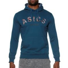 Мужская толстовка с капюшоном Asics Camou Logo Hoodie (131528 0053) синяя фото