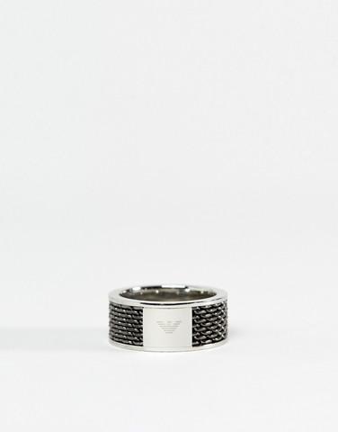 Серебристое кольцо Emporio Armani