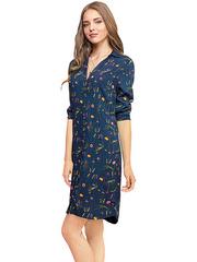 GDR010177 Платье женское, сине-разноцветное