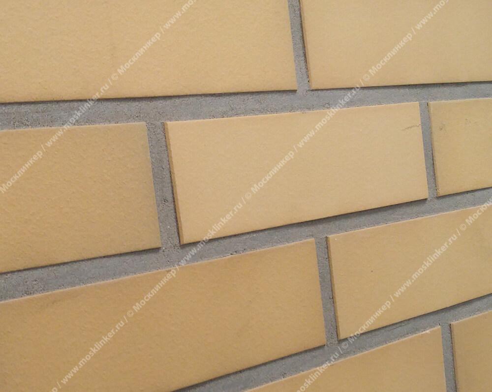 Клинкерная плитка под кирпич Roben, Rimini,  цвет желтый пестрый (gelb-bunt), гладкая (glatt)