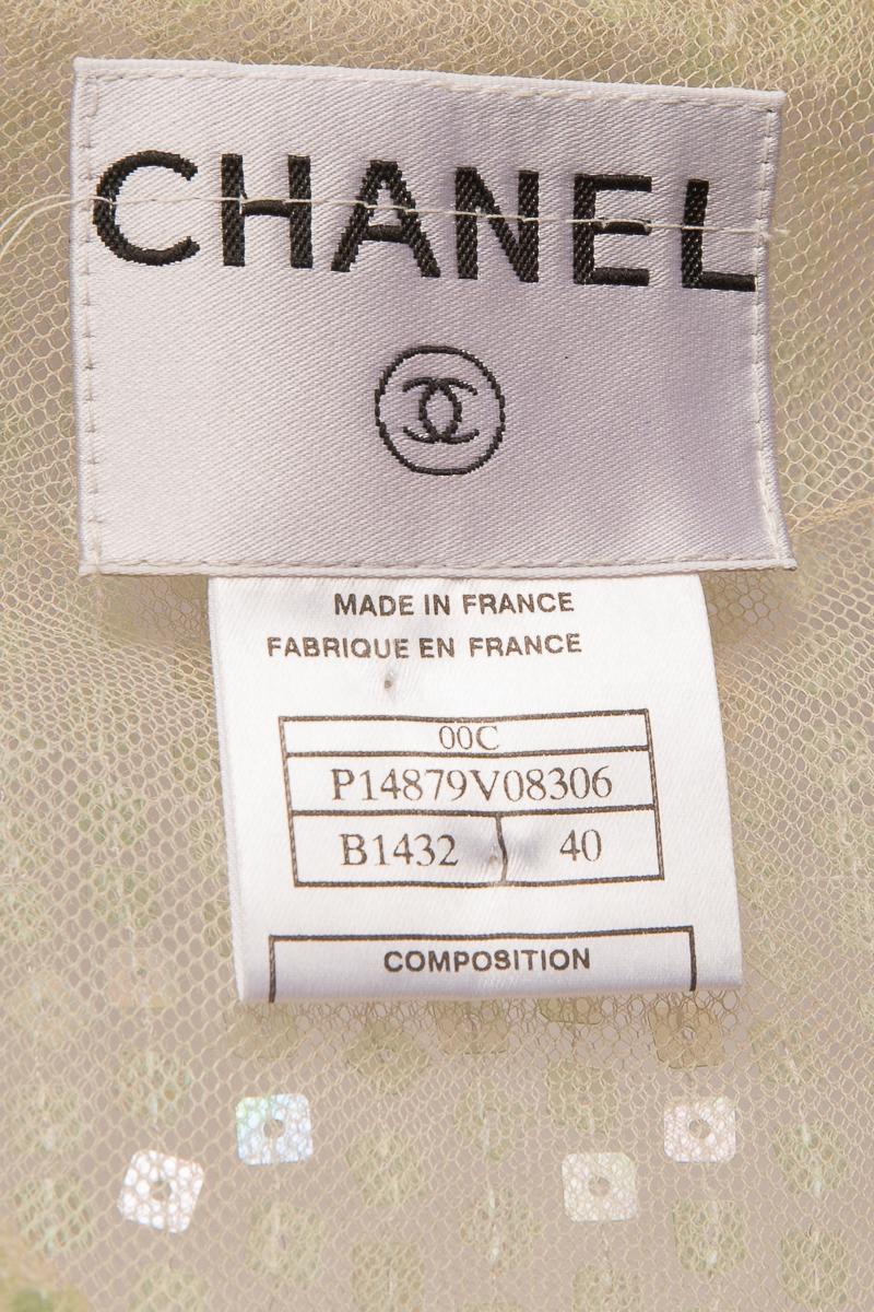 Элегантное вечернее пальто, украшенное пайетками, Chanel, 40 размер.