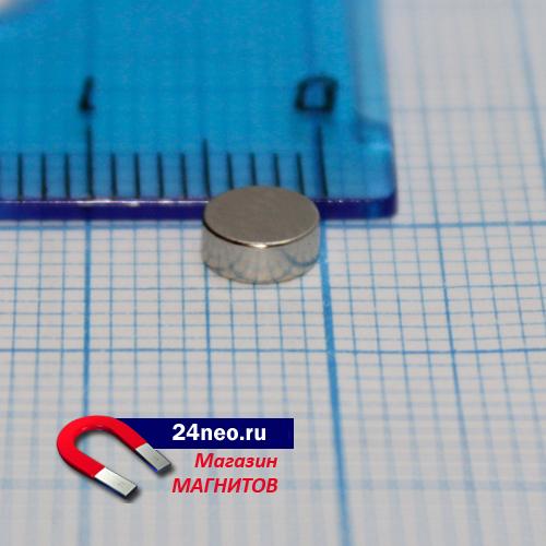 Неодимовый магнит диск 5х2 мм