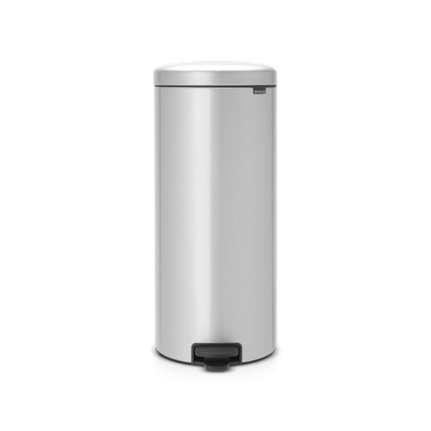 Мусорный бак newicon (30 л), металлическое внутреннее ведро, Серый металлик, арт. 114724 - фото 1