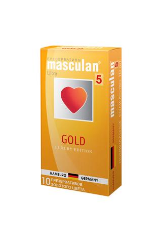 Презервативы Masculan 5 Ultra Золотого цвета, 10шт фото