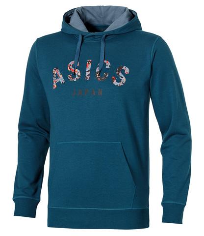 Мужская толстовка Asics Camou Logo Hoodie (131528 0053) синяя фото