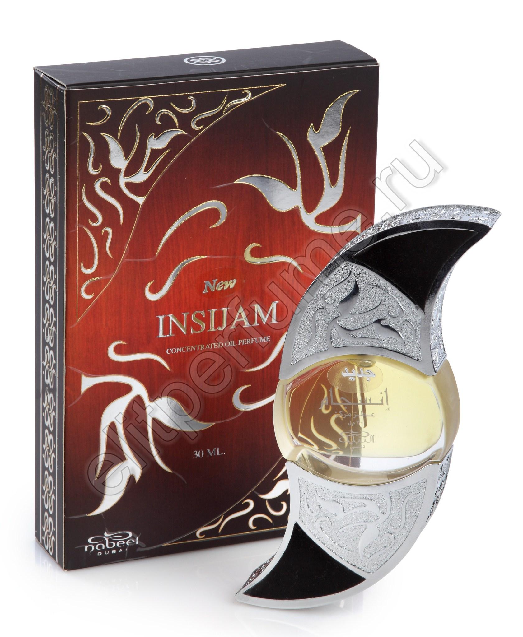 Арабские духи Инсиджам Insijam 30 мл арабские мужские масляные духи от Набиль Nabeel Perfumes