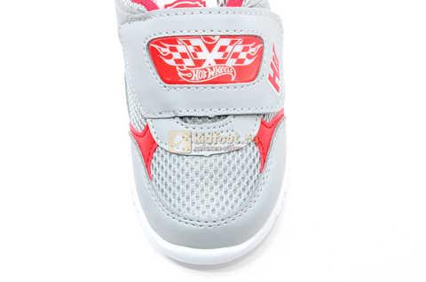 Светящиеся кроссовки Хот Вилс (Hot Wheels) на липучке для мальчиков, цвет серый. Изображение 12 из 14.