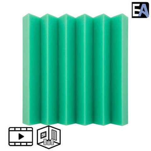 ECHO BLACK Акустический поролон Echoton Klin 70 Зелёный