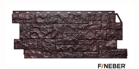 Фасадная панель Fineber Камень дикий коричневый 1117х463 мм