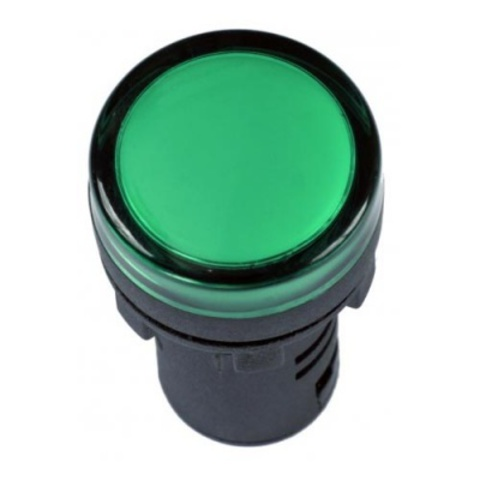 Лампа AD-16DS(LED)матрица d16мм зеленый 12В AC/DC TDM