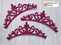 Заготовка Корона цветочная перфорация малиновая