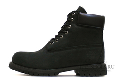 Ботинки Timberland 10061 Waterproof Black Мужские С Мехом