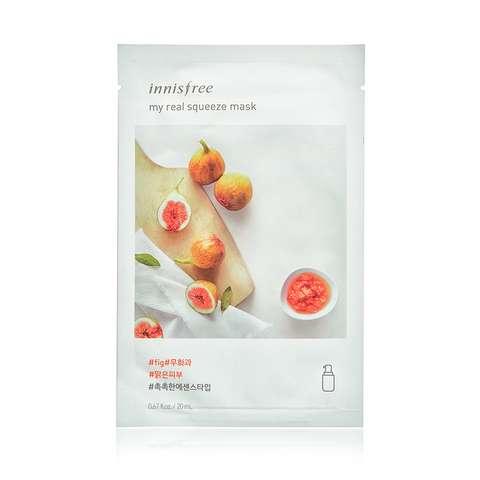 Innisfree Листовая маска для лица с экстрактом инжира My Real Squeeze Mask Fig