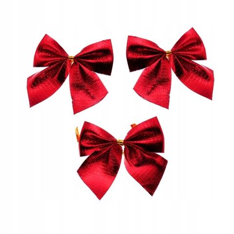 Елочные банты большие 4 шт красный
