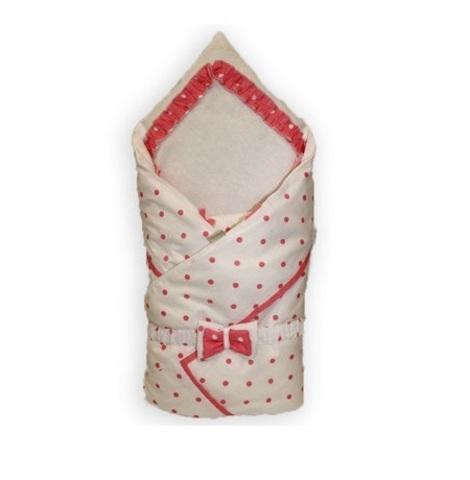 Зимний конверт на выписку для новорожденных Рандеву розовый