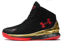 Кроссовки Мужские Under Armour Curry One Black Gold Red