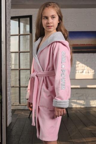 SPORT GIRL (розовый) детский халат для девочки  Five Wien Турция