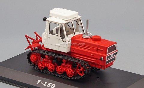 Tractor T-150 white-red 1:43 Hachette #122