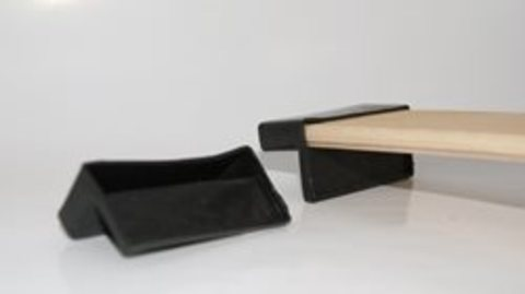 Латодержатель пристреливающийся 53 мм черный с углублением 27 мм