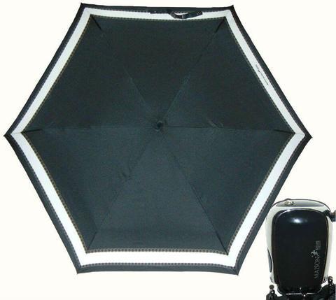 Купить онлайн Зонт мини Maison Perletti 16227-arg Chain design в магазине Зонтофф.