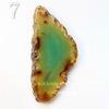 Подвеска Срез Агата (тониров), цвет - коньячно-зеленый, 51-77 мм (№7 (72х32 мм))