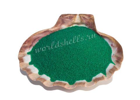 Изумрудный кварцевый песок 1 кг.