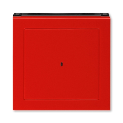 Лицевая панель карточного выключателя. Цвет Красный / дымчатый чёрный. ABB. Levit(Левит). 2CHH590700A4065
