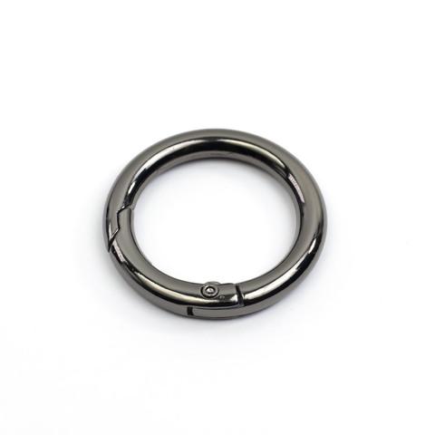 """Карабин-кольцо 25мм """"Тёмный никель"""""""