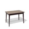 Стол KENNER 1100М, для кухни, стекло, раздвижной, капучино/венге