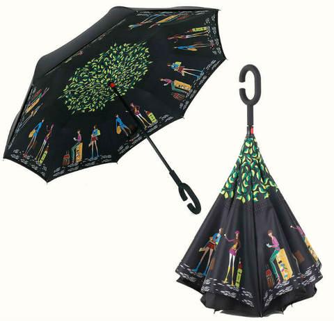 Купить онлайн Обратный зонт ReU Travel (арт.RU-6) в магазине Зонтофф.