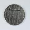 Основа для броши с сеттингом для кабошона 30 мм, 35 мм (цвет - античное серебро)
