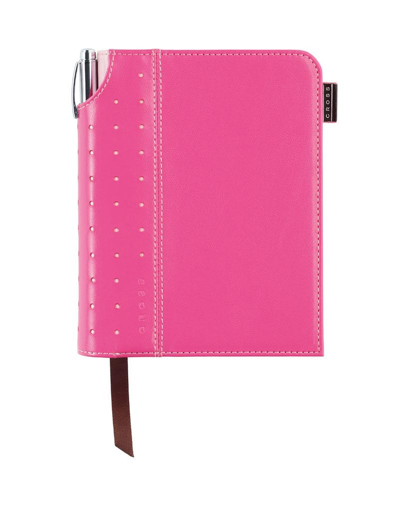 Записная книжка Cross Journal Signature A6, 250 страниц в линейку. ручка 3/4 в комплекте. Цвет -  ро