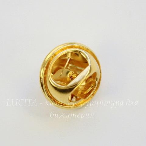 Основа для броши - значка из 2х частей, 12х8 мм (цвет - золото)